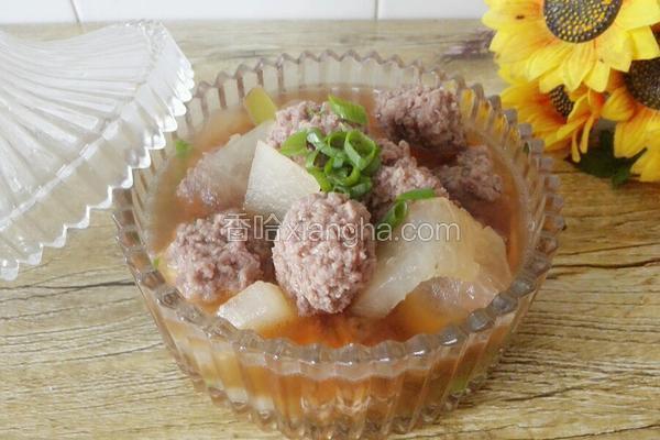 羊肉丸子氽冬瓜