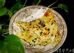 马齿苋蒜香鸡蛋饼