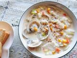 鲜奶芝士蛤蜊汤的做法[图]