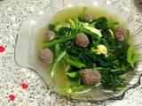 芥菜肉丸鸡蛋汤的做法[图]