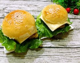 香酥鸡排芝士汉堡包