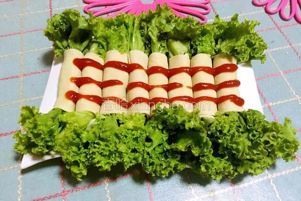生菜豆皮卷