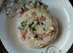 黄瓜火腿鸡蛋炒饭