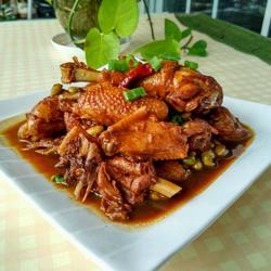 毛豆米烧鸡