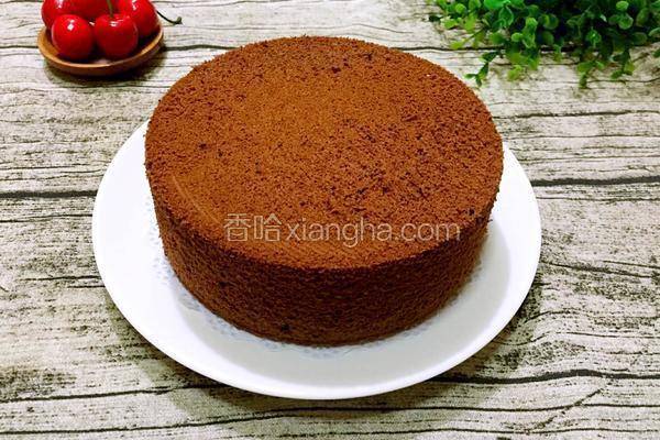 六寸可可戚风蛋糕