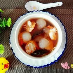 虾仁红菇冬瓜汤