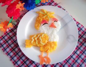 南瓜小鸟饭团