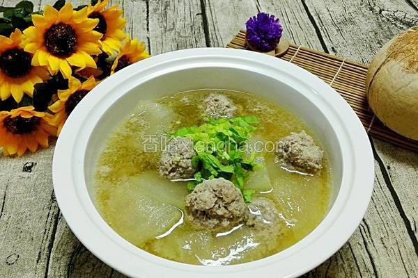 肉丸子冬瓜汤