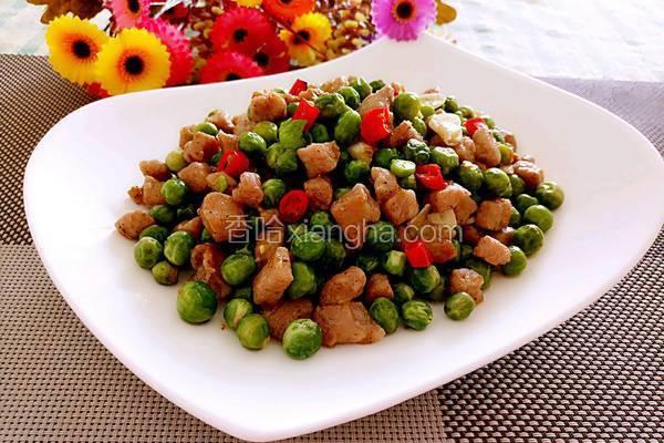豌豆炒肉丁