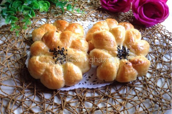 椰蓉花朵面包 冷藏中种法