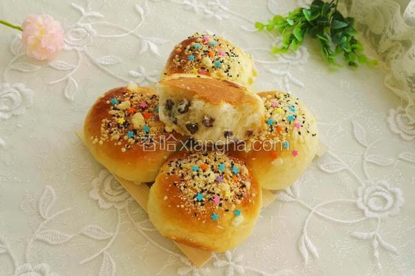 七彩蜜豆小餐包
