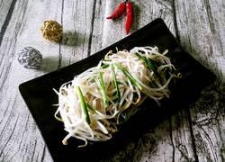 清炒绿豆芽韭菜