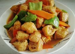 琉璃红烧豆腐