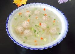 白萝卜丝丸子汤