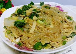 白菜干豆腐拌粉丝