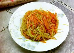红萝卜炒绿豆芽