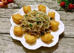 绿豆芽炒炸豆腐