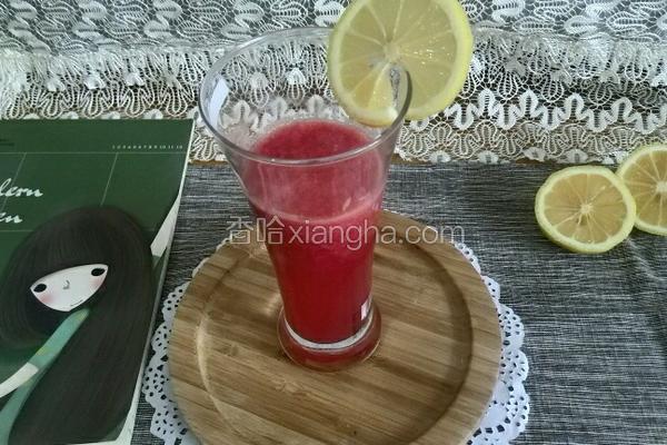 鲜榨西瓜柠檬汁