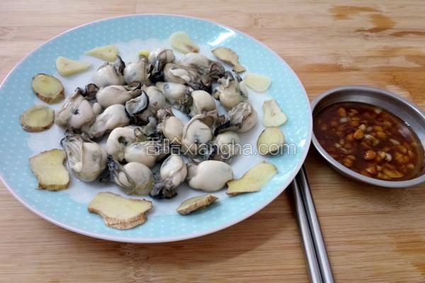 白切牡蛎(特制蘸酱)