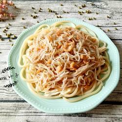 绿豆芽虾米腐竹拌米粉