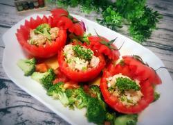 西兰花番茄酿肉
