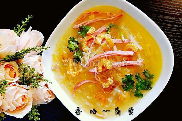 火腿虾仁白萝卜汤#年夜饭