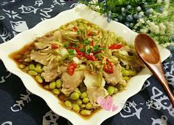 鲜猪肉蒸毛豆