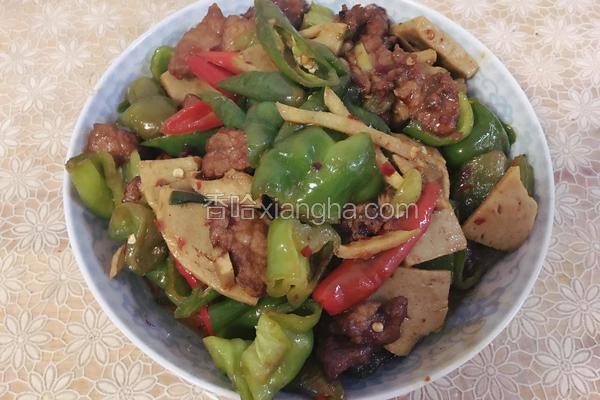 青椒面筋炒肉片
