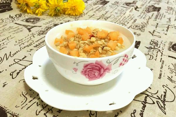 哈密瓜燕麦冰粥