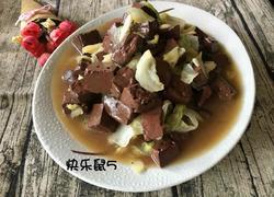 卷心菜炖血豆腐