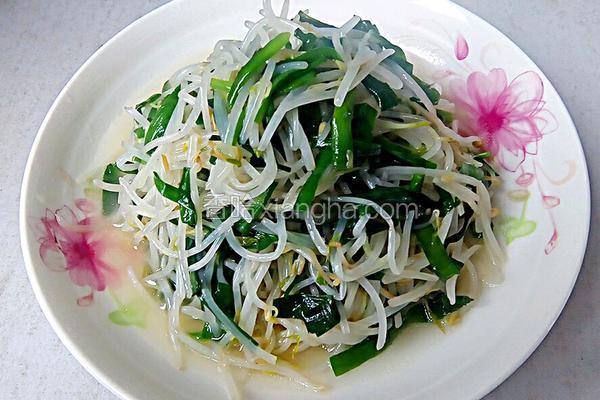 清炒韭菜绿豆芽