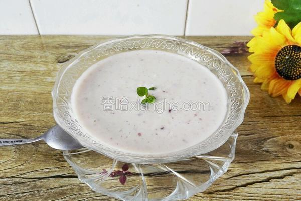 自制蓝莓酸奶