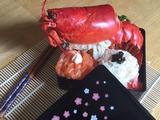 蒜蓉蒸波士顿龙虾配日式饭团的做法[图]