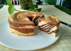 6寸斑马纹戚风蛋糕