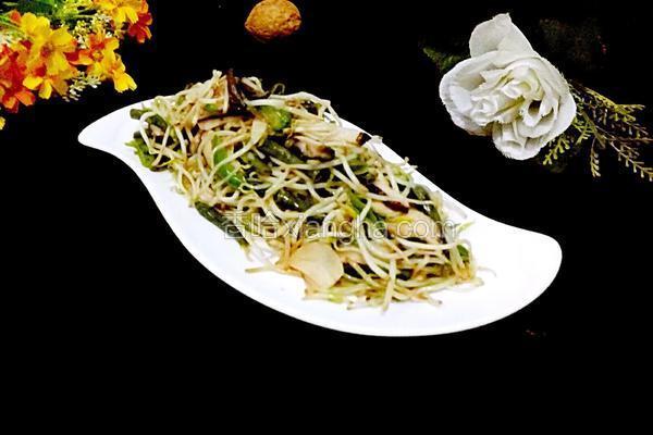 香菇绿豆芽