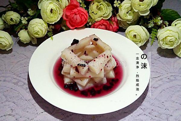 蜜汁蓝莓山药