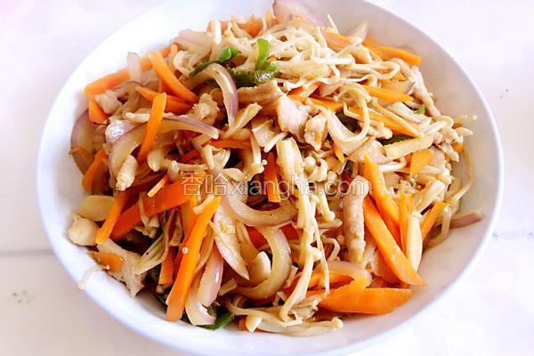 金针菇炒洋葱