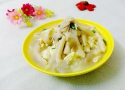 袖珍菇鸡蛋汤