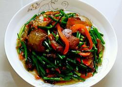彩椒韭菜花炒酱腊肉