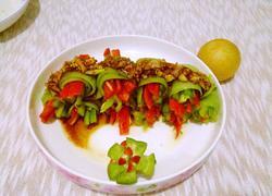 彩椒黄瓜卷