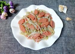 火腿肠炒绿豆芽