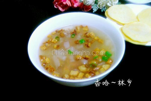 油渣白萝卜汤