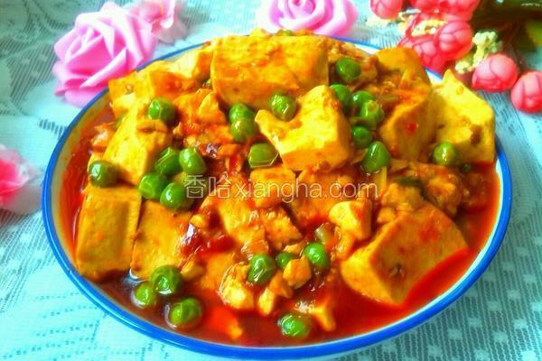 香辣青豆烧豆腐