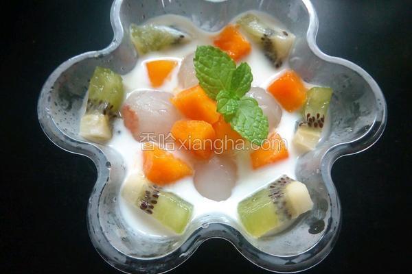 荔枝水果酸奶冰