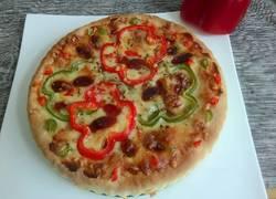 彩椒香肠披萨