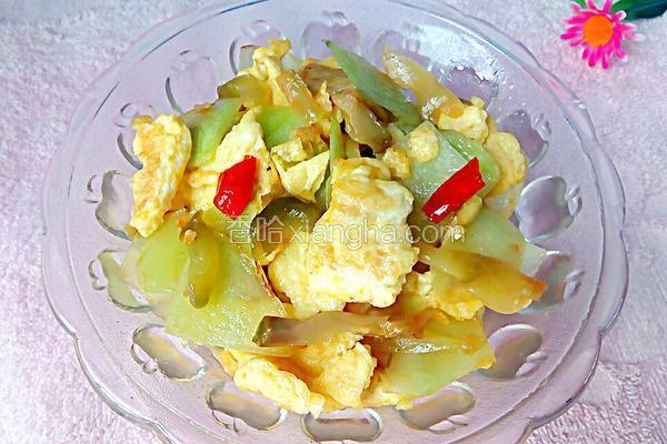 西瓜皮榨菜炒蛋