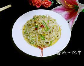 绿豆芽炒肉丝[图]