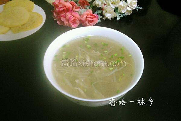 绿豆芽肉丝汤