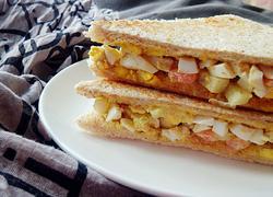 西瓜皮鸡蛋三明治