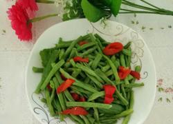 彩椒炒豇豆